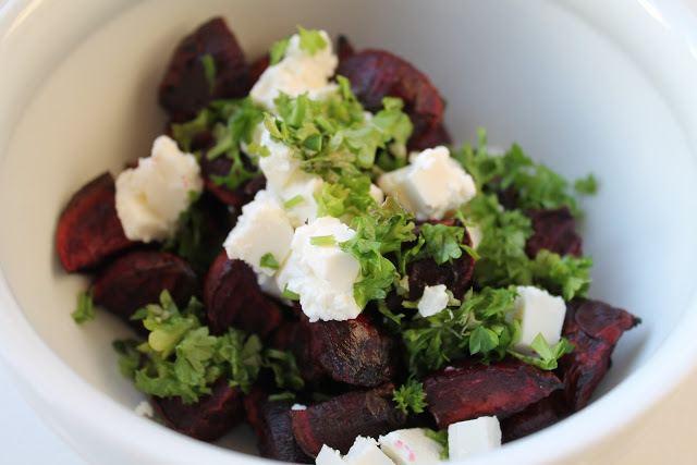 Bagte rødbeder med feta og persille 1