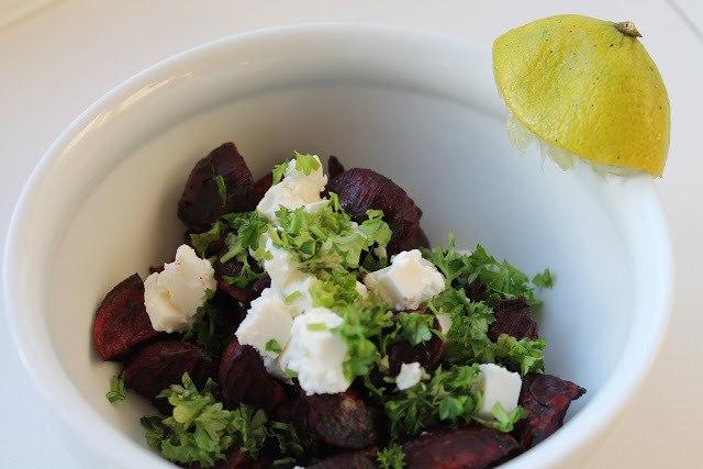 Bagte rødbeder med feta og persille 3