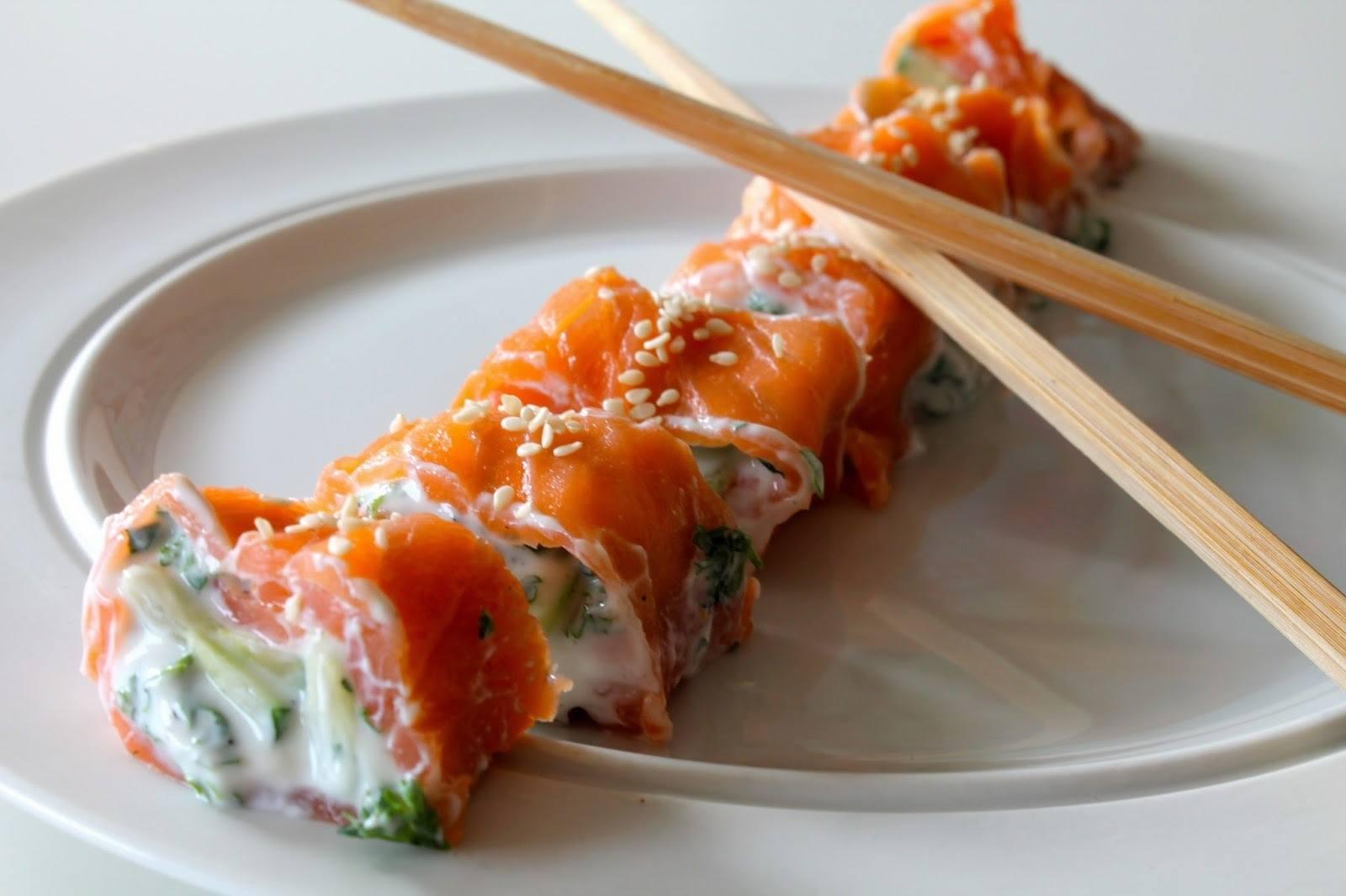 Lakseruller a la sushi