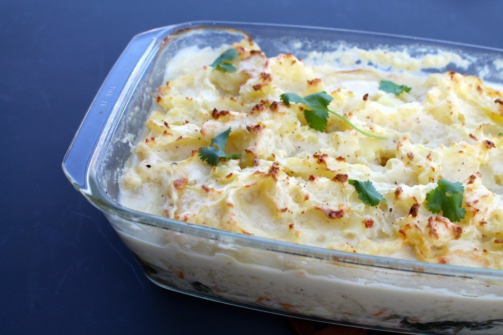Fishpie med kartoffelmos