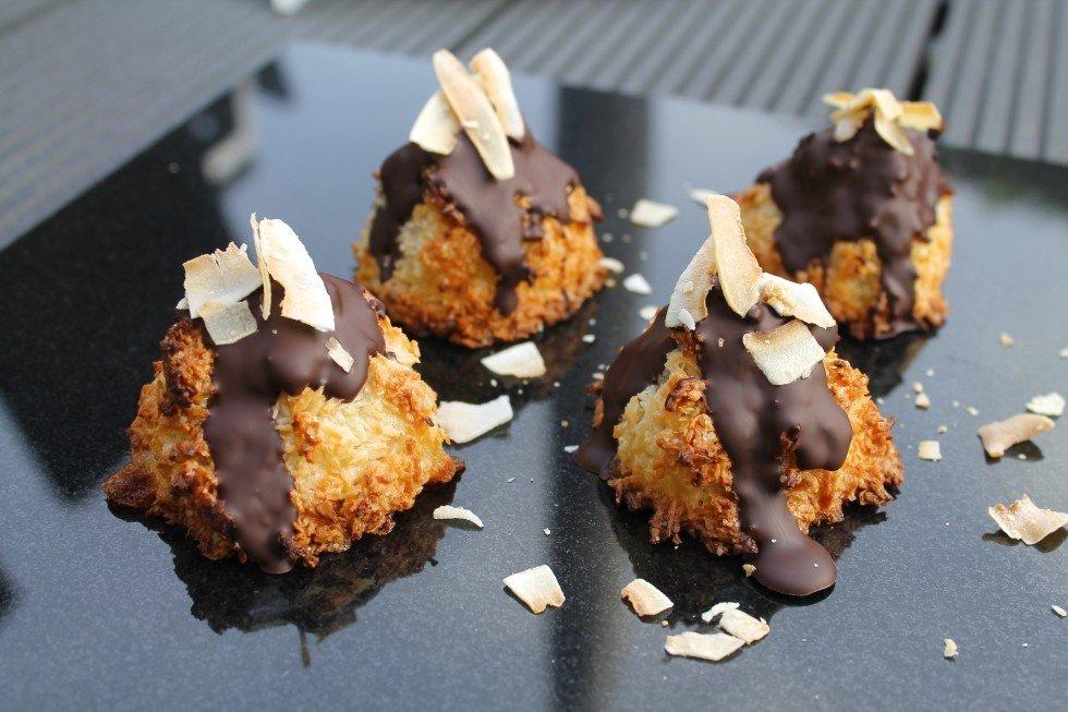 kokostoppe med citron og chokolade