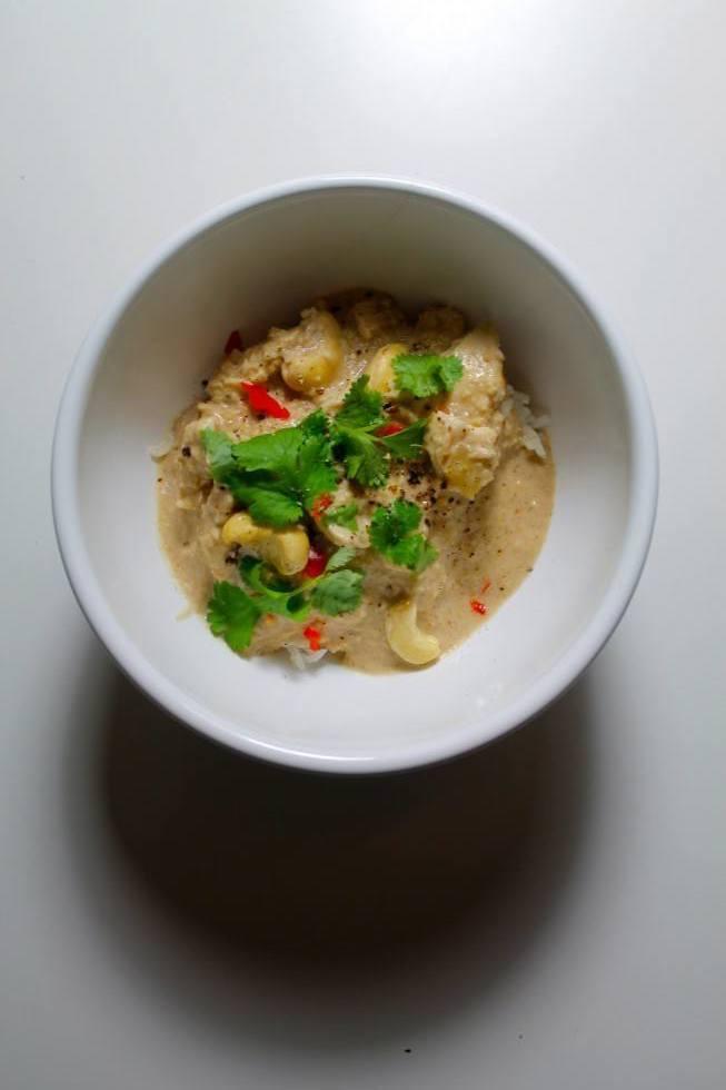 Kylling i kokos-cashewnøddesauce