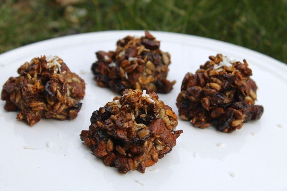 Nøddesnacks med kokos og tranebær