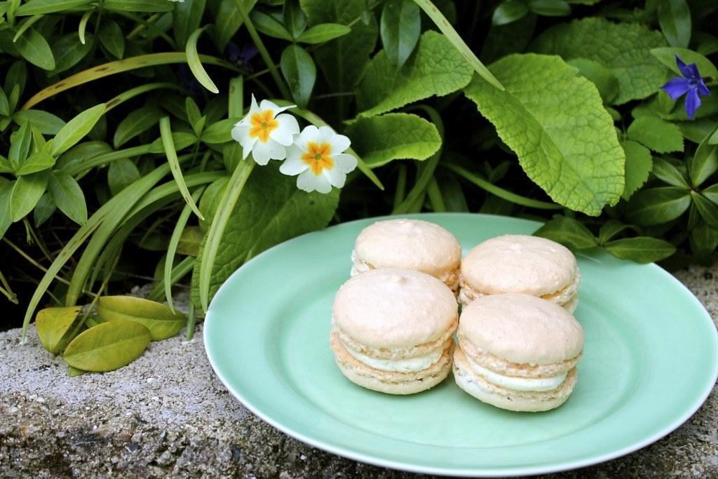 Macarons med hvid chokolade og citron