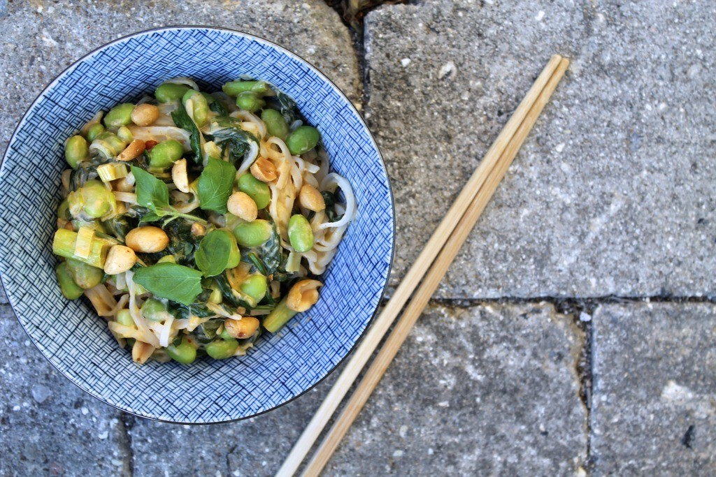 Asiatisk inspirerede risnudler med edamame, spinat og cremet peanutbuttersauce photo IMG_5713_zpsu44jfbog.jpg