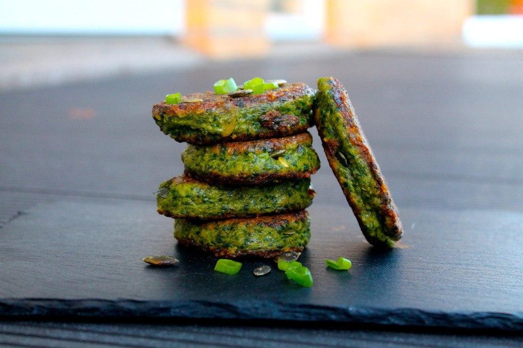 Sprøde spinat veggiedeller