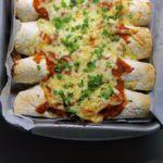 Enchiladas med kylling og ost