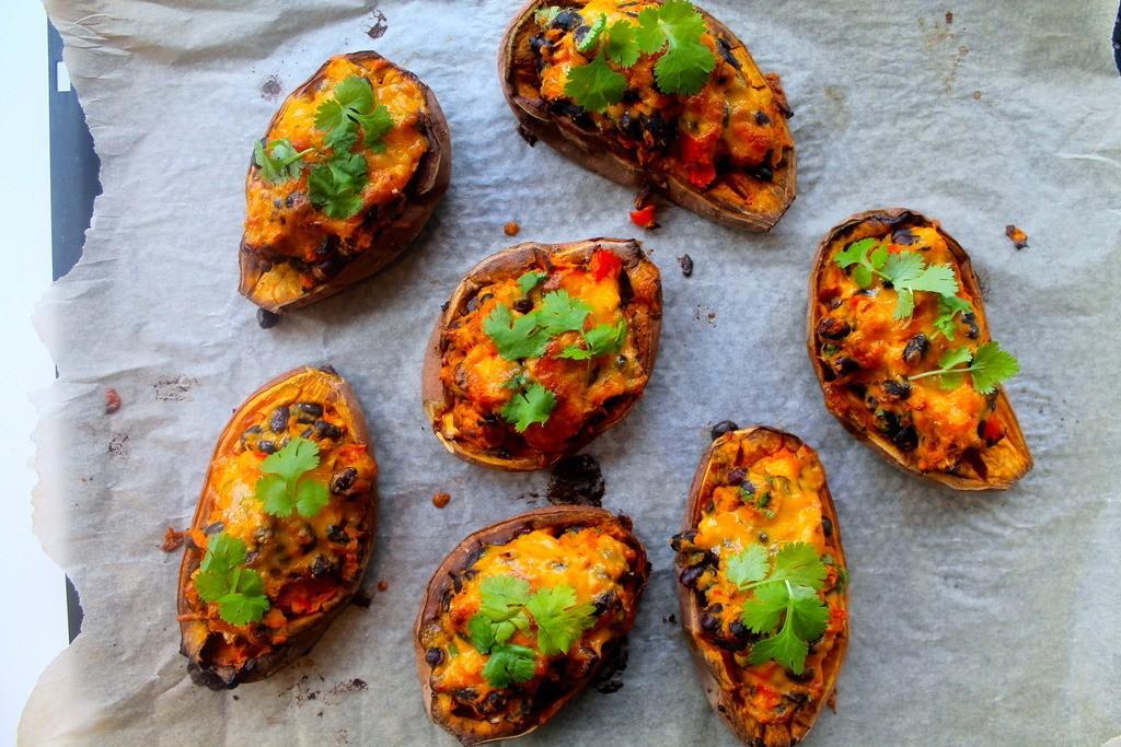 Fyldte mexicanske søde kartofler