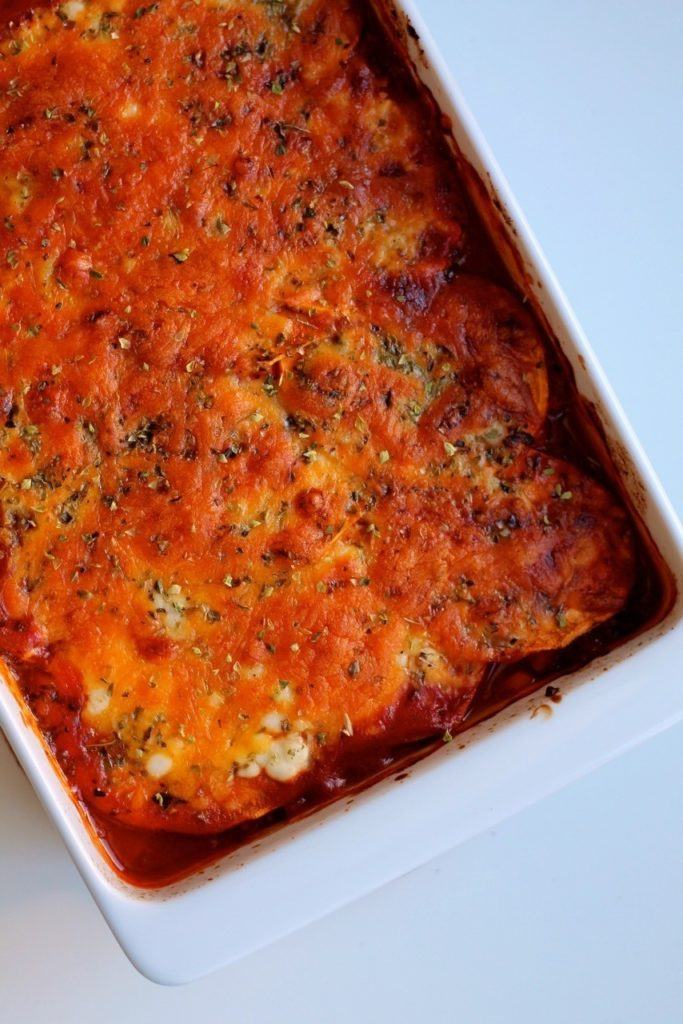 Lasagne med søde kartofler og ost