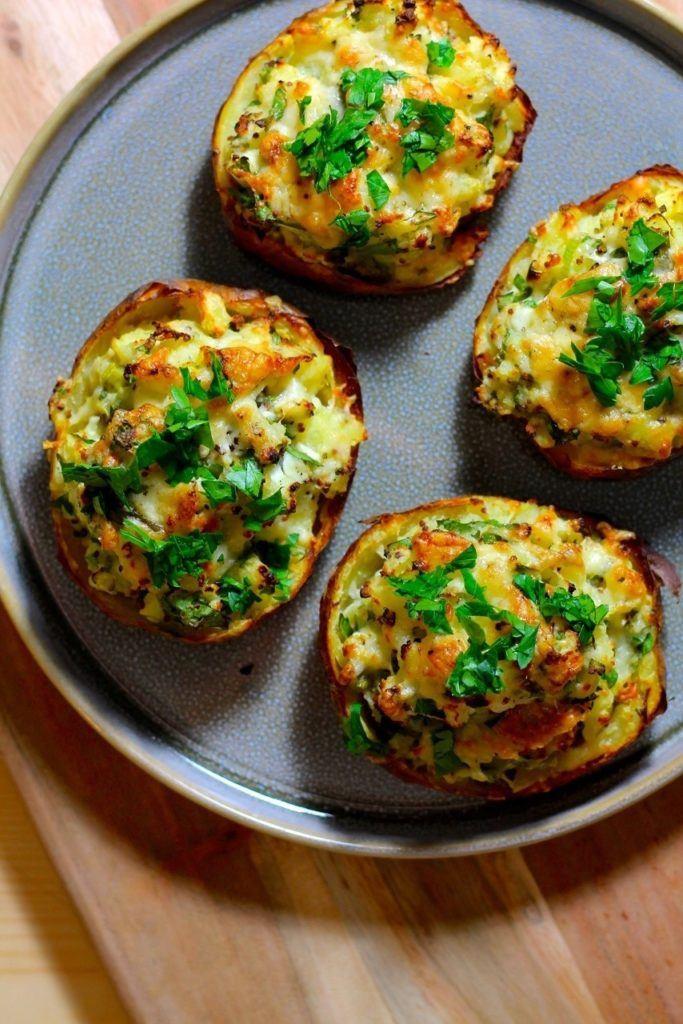 Fyldte kartofler med ost