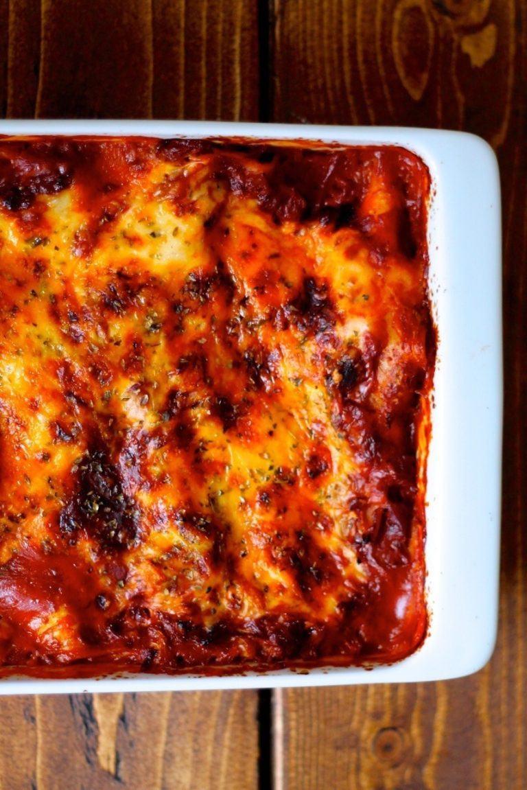 Mexicansk lasagne med chorizo og kål