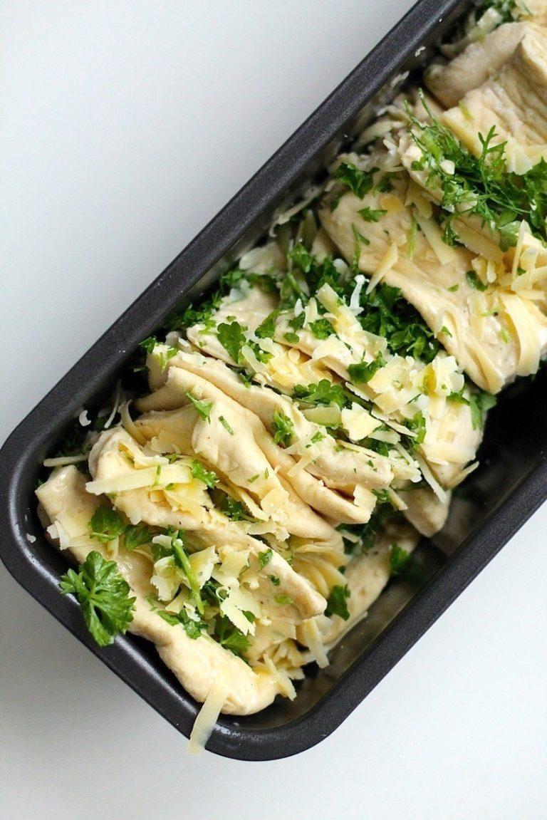 Pull apart brød med hvidløgssmør og ost