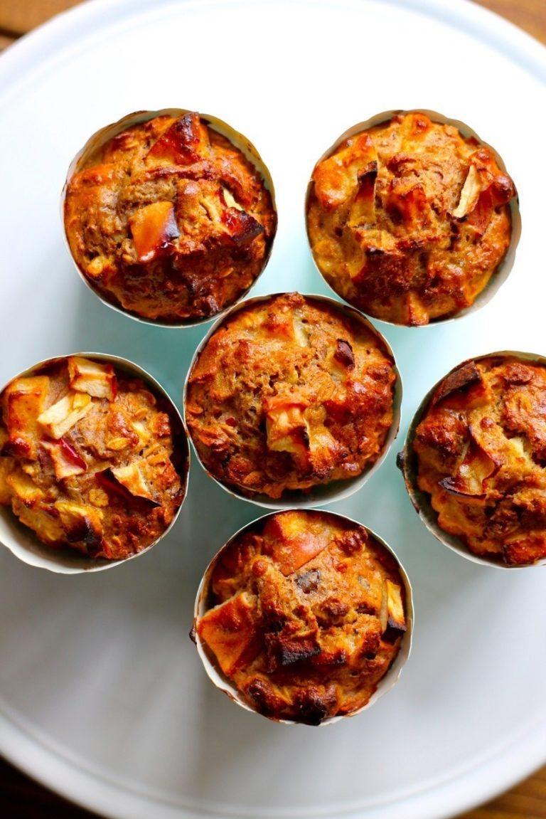 Morgenmadsmuffins med æble og kanel