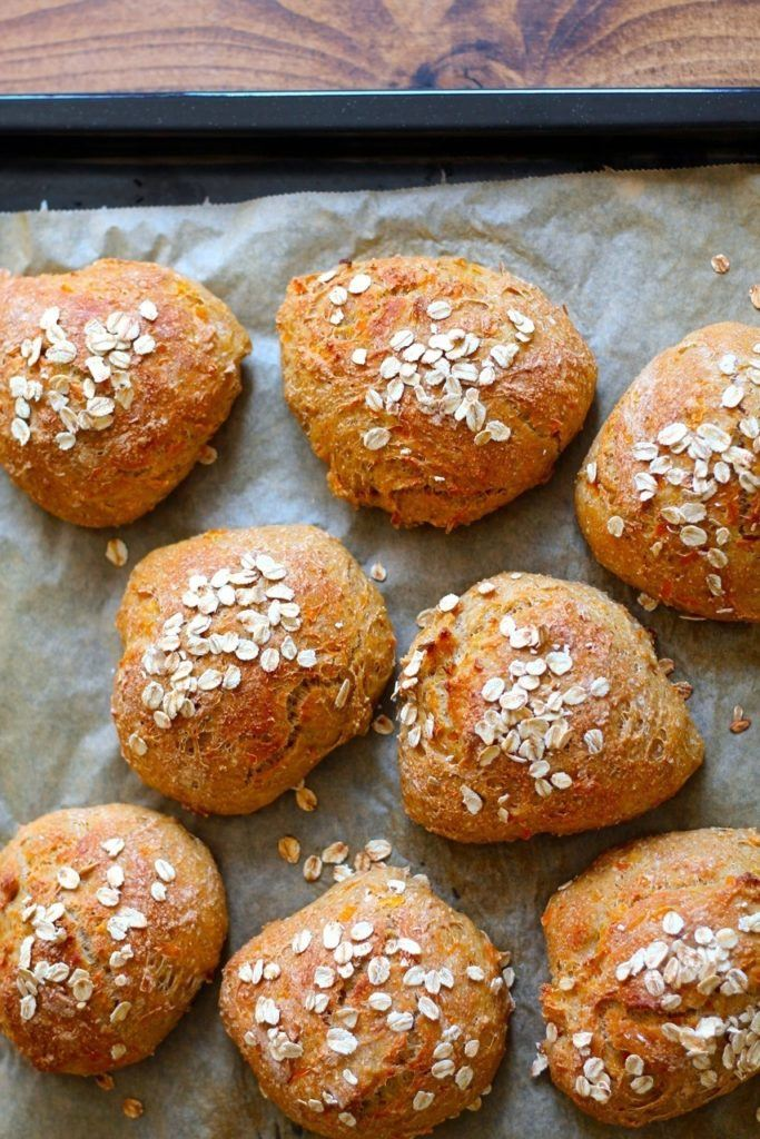 Havregrynsboller med gulerod