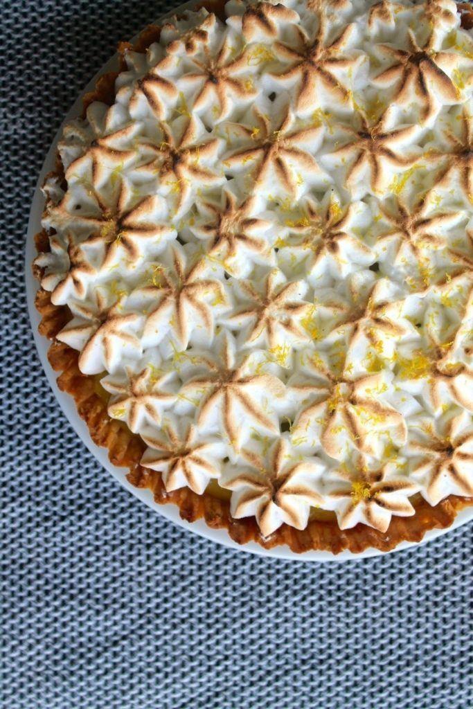 Citrontærte med marengs