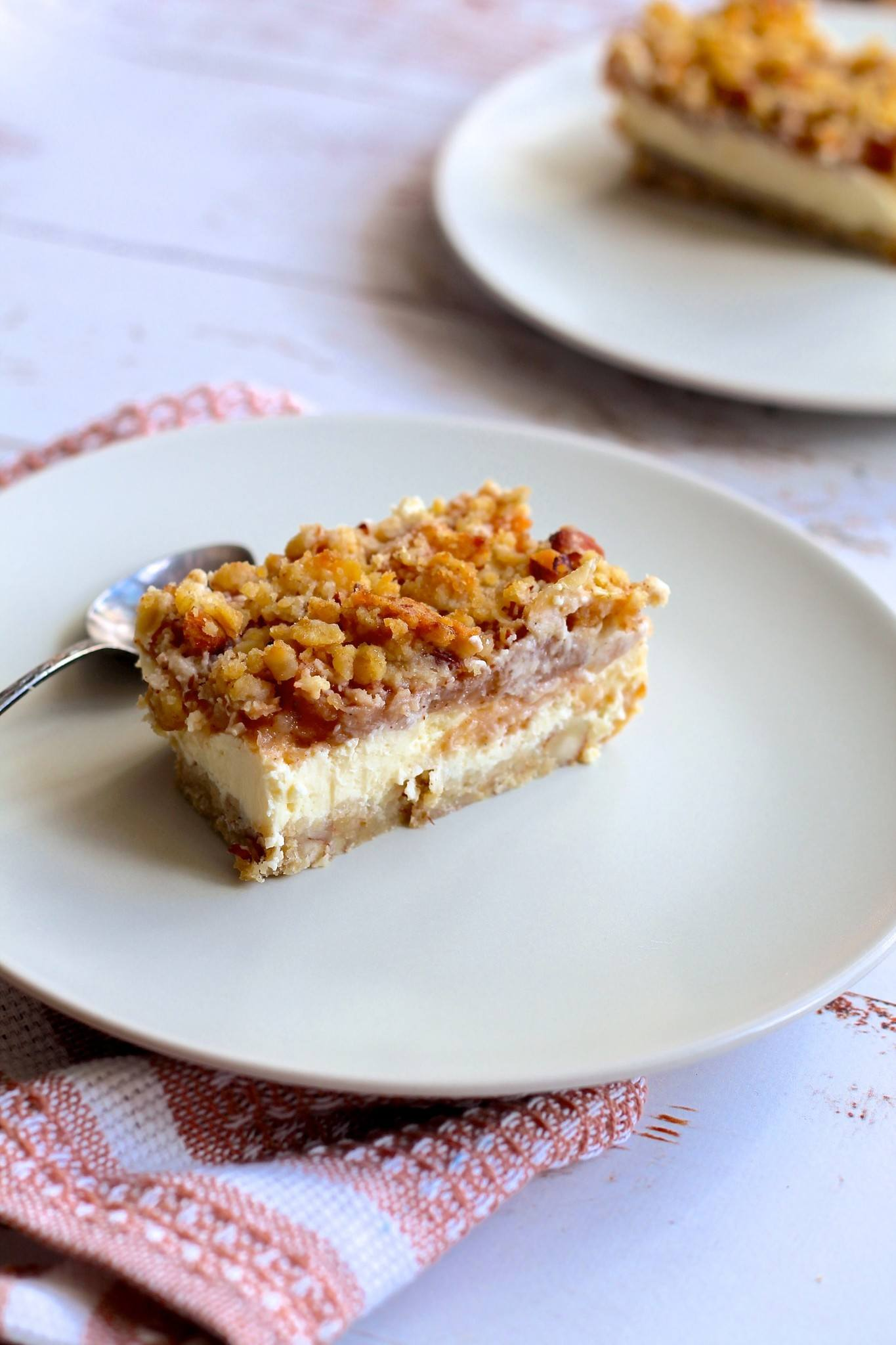Æble cheesecake med crumble
