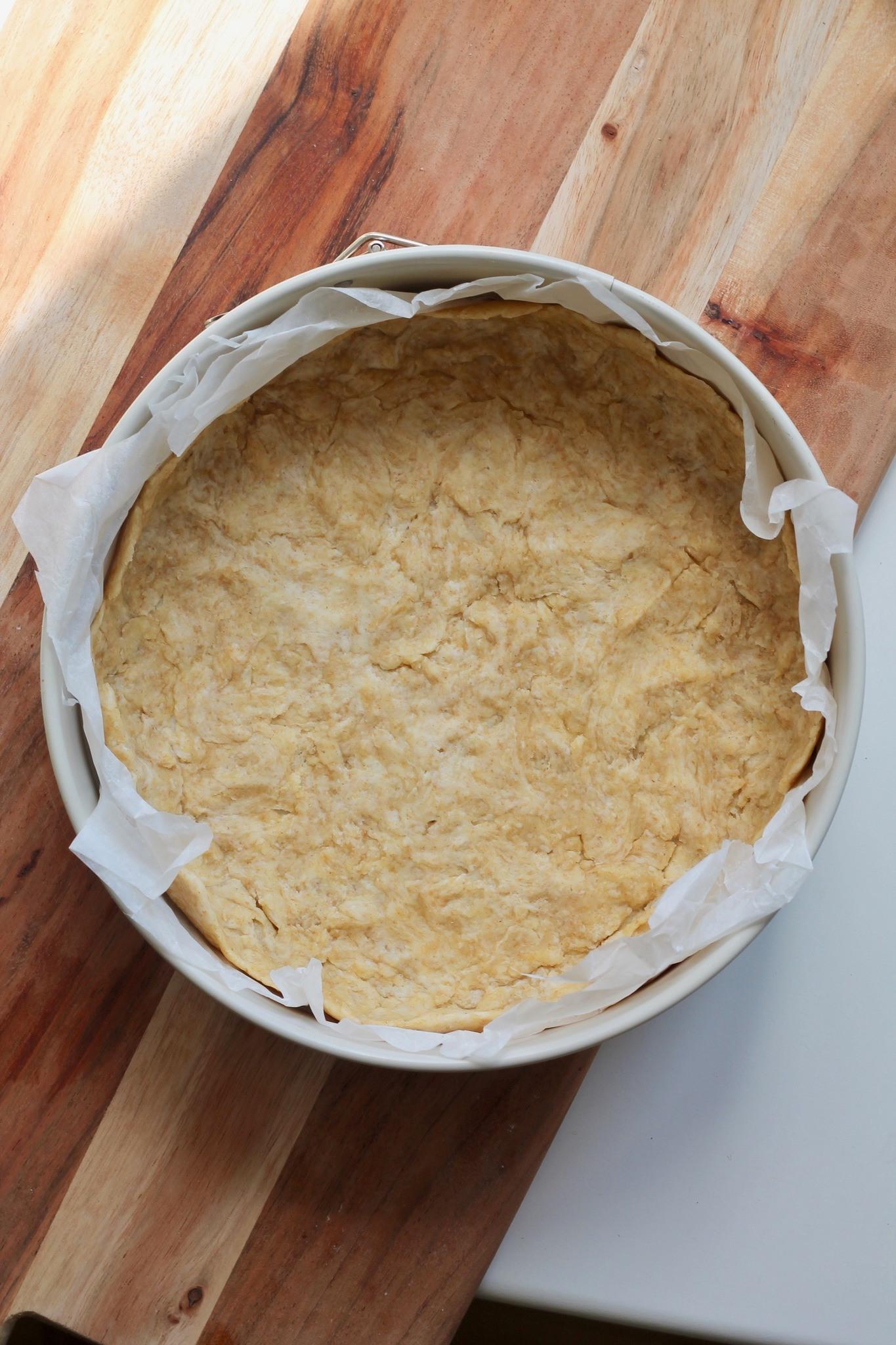 Aspargestærte med gedeost og dild 8