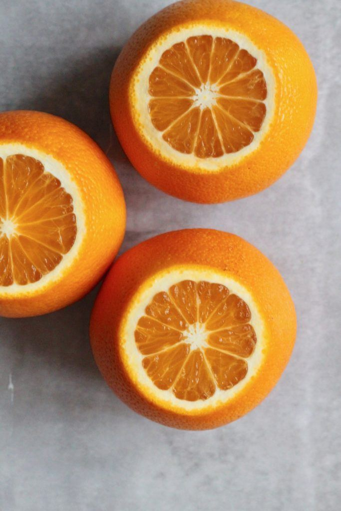 Gedeost salat med appelsiner, grillede gulerødder og appelsin-honning-sennepsdressing 6