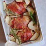Fyldt kyllingebryst med svampe, æbler, flødeost og parmaskinke