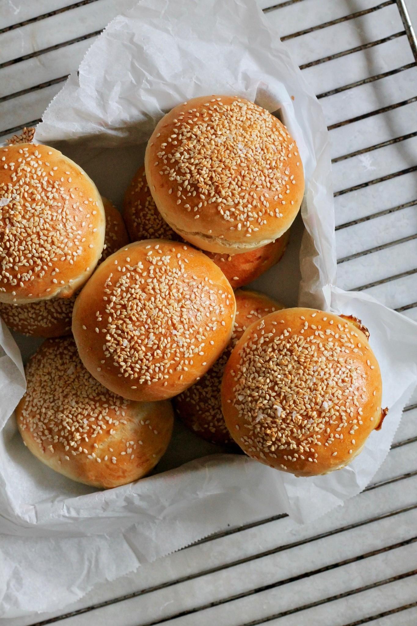 Burgerboller - bløde og luftige