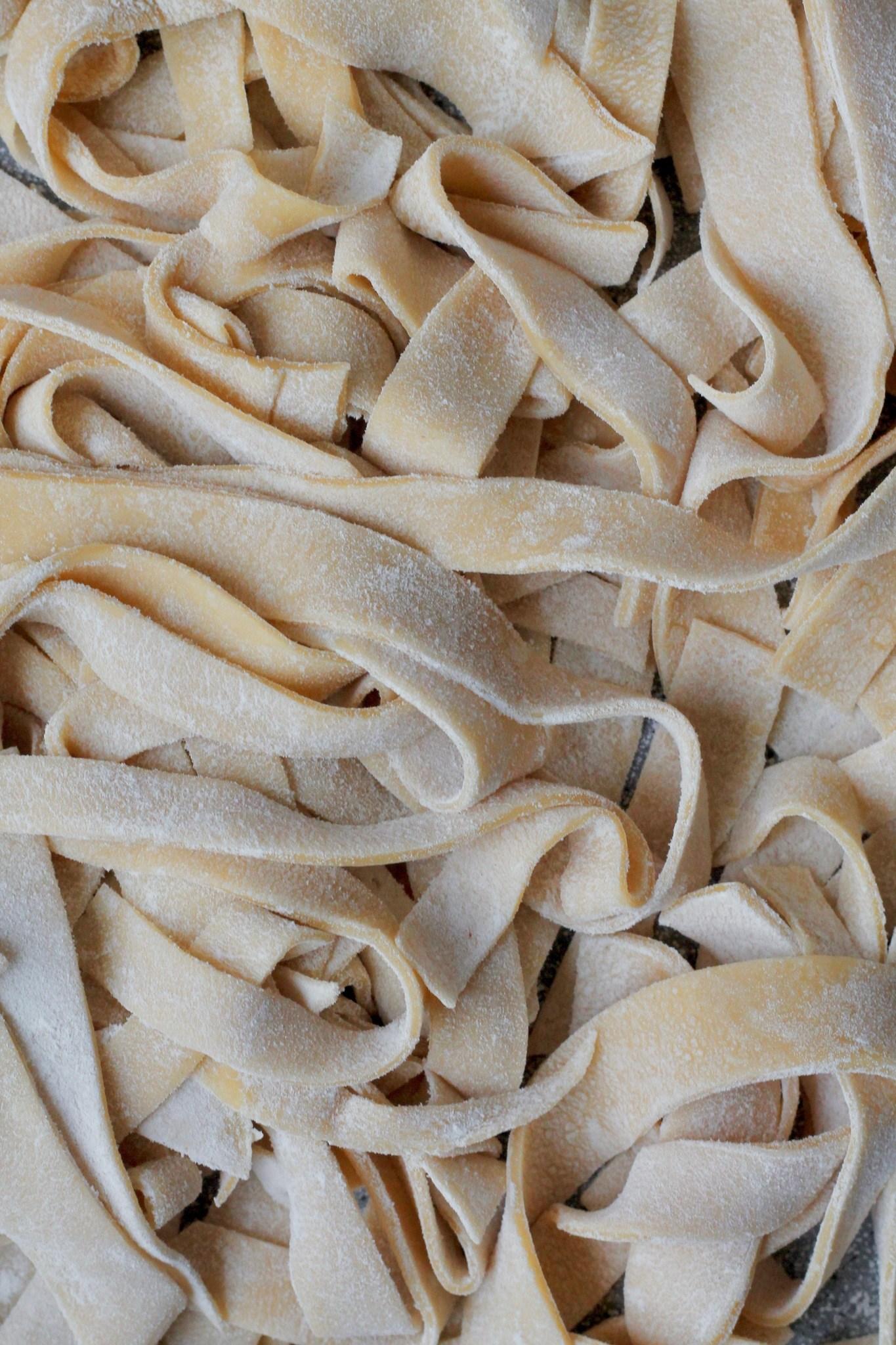 Hjemmelavet pasta uden maskine