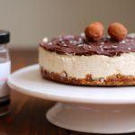 Kaffe cheesecake med chokolade og saltkaramel 7