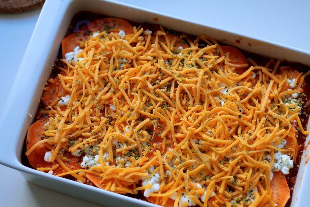 Lasagne med søde kartofler og ost 3
