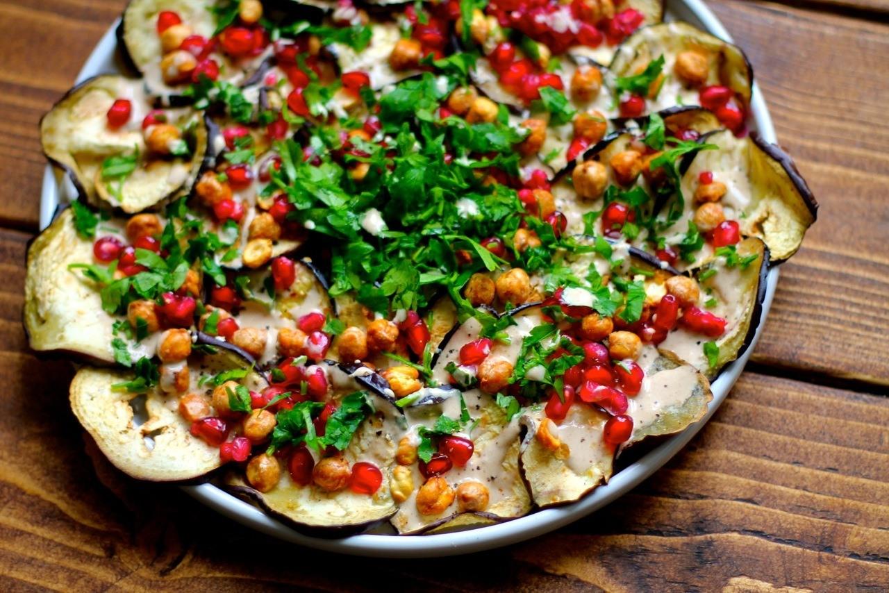 Bagt aubergine salat