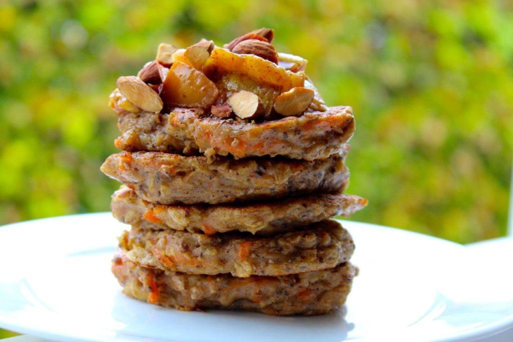 Sunde havregrødspandekager med gulerod