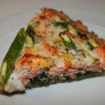 Laksetærte med spinat og asparges 9