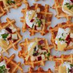 Ostevafler med cremefraiche - alternative blinis til forret