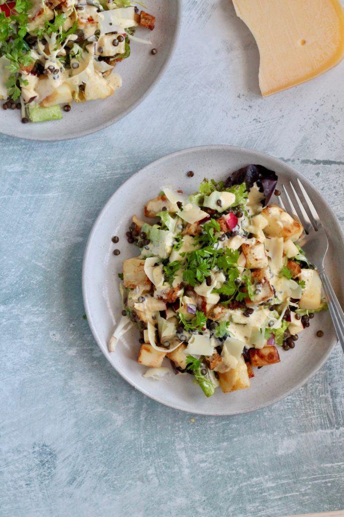 Vegetarisk cæsarsalat