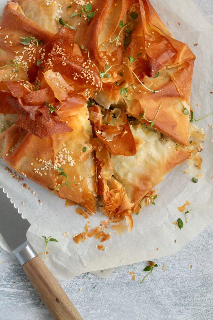 Spanakopita - græsk spinattærte med feta