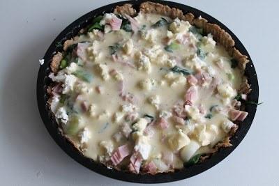 Tærte med porrer og skinke 11