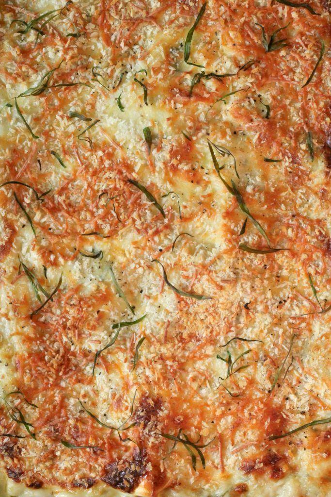 Grøntsagslasagne med spinat og svampe